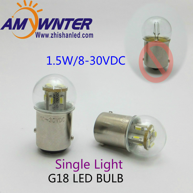 Motorcycle lights G18 led 12v Auto Lamp bulbs Equipment Indicator SMD3014 12LEDs Signal Lamp Rear Bulb Lamp AMYWNTER