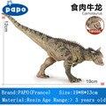 Francia Marca Carnotaurus PAPO Dinosaurio Resina Modelo Movible Boca Simulación Figuras de Acción Para Adultos Niños No tóxicos Juguetes Garaje Kids