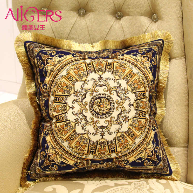 Avigers Роскошная Подушка с кисточками, Бархатная подушка, сердечник, домашняя декоративная, Европейский дизайн, диван-спальная подушка