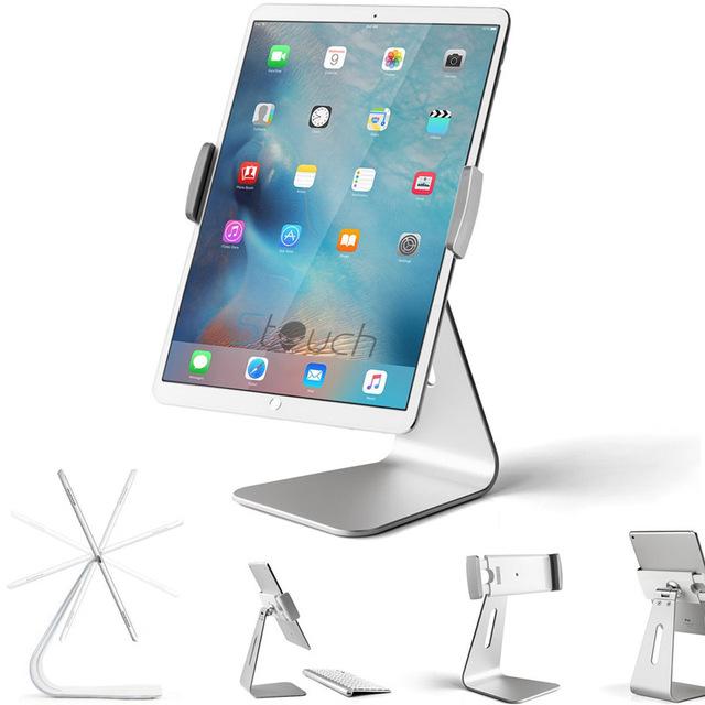 360 graus rotatable liga de alumínio desktop titular tablet suporte para samsung galaxy tab pro ipad pro