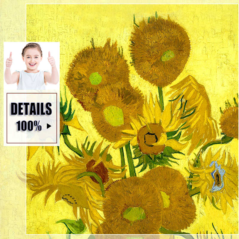 Van Gogh Oil Canvas Painting Art Print Poster Picture Sunflower Apricot Prints Paintings Abstract Poster Picture Wall Decoration