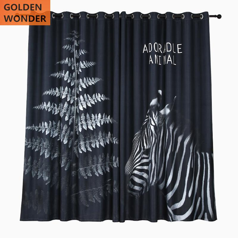 Fashion Blackout Curtains Window Curtain Living Room Bedroom