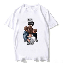 цена на FIXSYS Summer Mom T-shirt Casual Women T-shirts Fashion Short Sleeve Tops Tee Mom Gift Mother's Day Gift Funny T Shirts Cute Tee