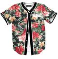Verão dos homens luva cheia de impressão de manga curta floral harajuku streetwear frete grátis