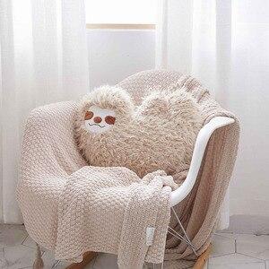 Nooer New Arrival Simulation Sloth Plush Toy Kids Doll Soft Cushion Sofa Throw Pillow Girlfriend Kids Birthday Gift Home Decor