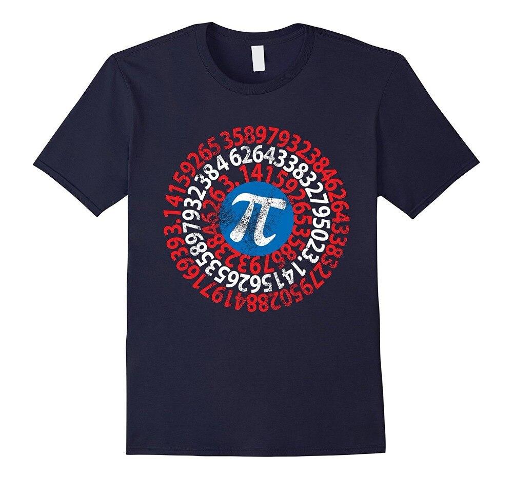 2018 New Men Summer Tee Shirt Captain Pi 3.14 Nerdy Geeky Nerd Geek Math Student Tee Funny T-shirt