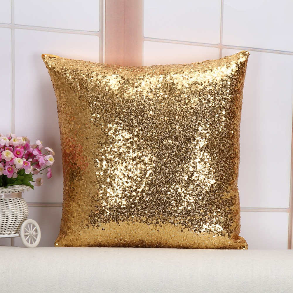 sequin ivory pillows reversible pillow whitegold products white glam gold