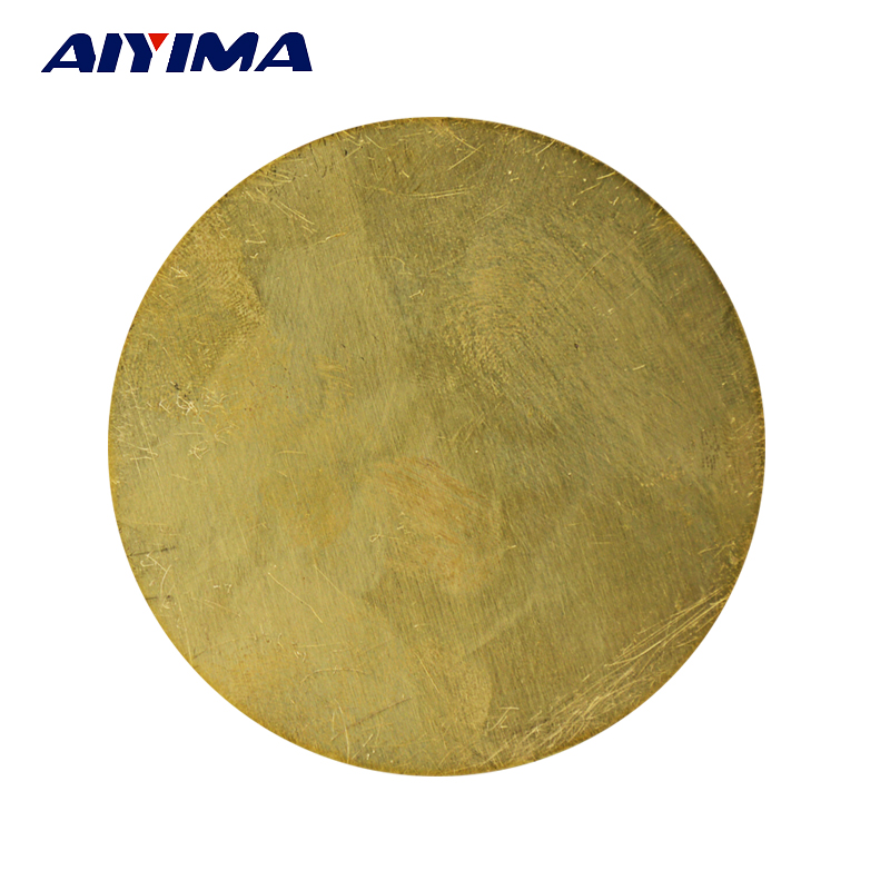 1pc Round brass Copper Sheet Plate H62 disc brass gasket Cu Metal 1pc high purity copper plate cu metal foil sheet 0 1x200x1000mm best price for power tool accessories