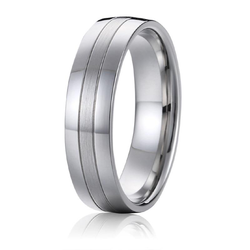 Prix pour Top qualité Classique Europe conception Occidentale Blanc Or Style qualité aéronautique bandes de mariage de titane promesse anneaux pour hommes