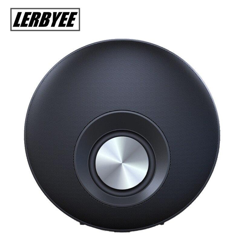 Q5 Forme Ronde Mega Bass Bluetooth Haut-Parleur avec Mains Libres Micro Soutien TF Carte jouer HIFI frisbee Subwoofer diaphragme