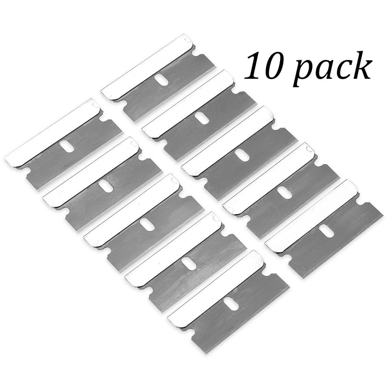 10Pcs Metal Blade Glue Residue Cleaning Tool For Phone LCD Glue Remover Scraper Removing Paint And Decals (NO Handle)