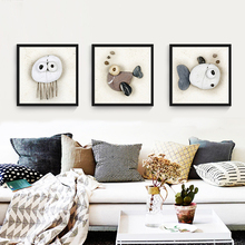 Small fresh living room decorative painting mural paintings of modern simple children's room restaurant box draw cartoon Nordic