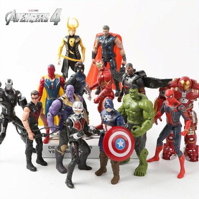 Endgame Infinito Guerra Figuras de Super Heróis vingadores Brinquedos Thanos ron Man Capitão América Hulk Spiderman Thor Visão Soldado Inverno