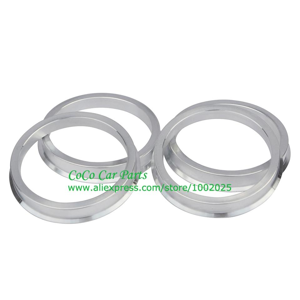 ZHTEAPR Wheel Hub Centric Rings 60.1 to 74.1 OD=74.1mm ID=60.1mm Aluminium Alloy Wheel Hubrings 74.1 to 60.1 4pcs