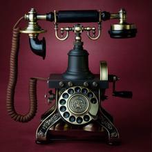 Dial Antiguo Teléfono Fijo de Los Hogares de La Vendimia europea de Alta gama De Negocios de Oficina En Casa