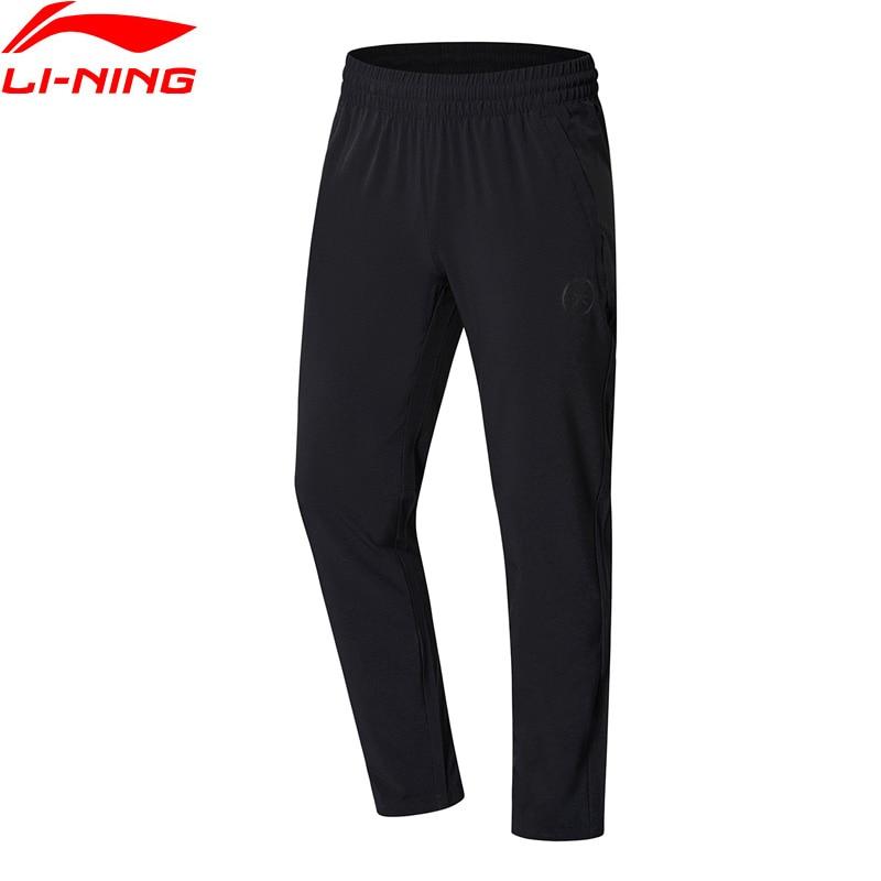 Li-Ning 2018 Men Wade Series Pants Elastic Slim Fit 88% Polyester 12% Spandex Li Ning Comfortable Sports Pants Trousers AYKN167 inbike outdoor cycling polyester spandex jacket pants for men white black