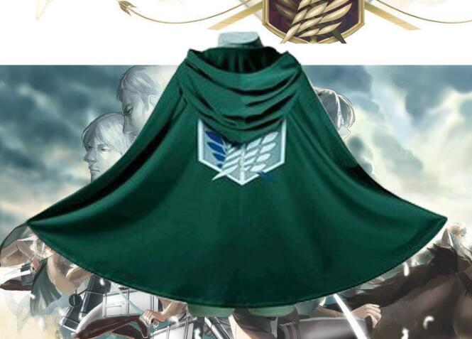 Clearance attack on the Titans cloak Shingeki no kyojin Scouting Legion Cosplay Costume Anime Cosplay green cape mens clothing