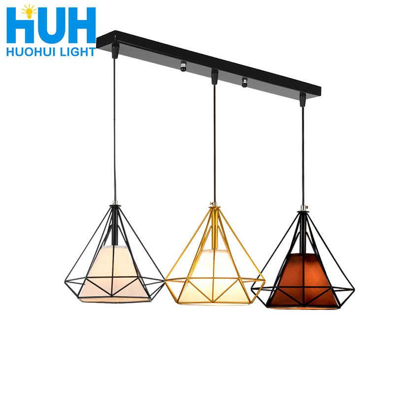 Retro Nordic restaurant chandelier wrought iron personality industrial style creative chandelier lighting living room chandelier