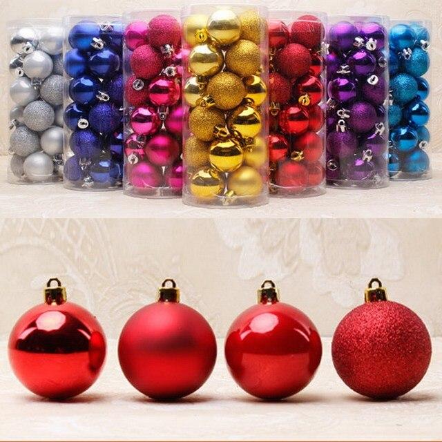 24PCS Christmas Tree Decor Ornament 4, 6CM Ball Type Craft Christmas Gift  Boxes Flash Light - 24PCS Christmas Tree Decor Ornament 4, 6CM Ball Type Craft Christmas