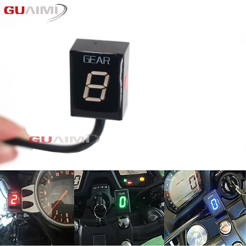 Motorcycle LCD 1 6 Level Gear Indicator 6 Speed Digital Gear Meter For Kawasaki All FI