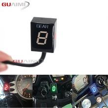 Moto LCD 1 6 Livello Indicatore di Marcia 6 Velocità Digitale Meter Gear Per Kawasaki Tutti I FI Modello Z750 Z800 z1000 ER6N Ninja 300 ZX6R
