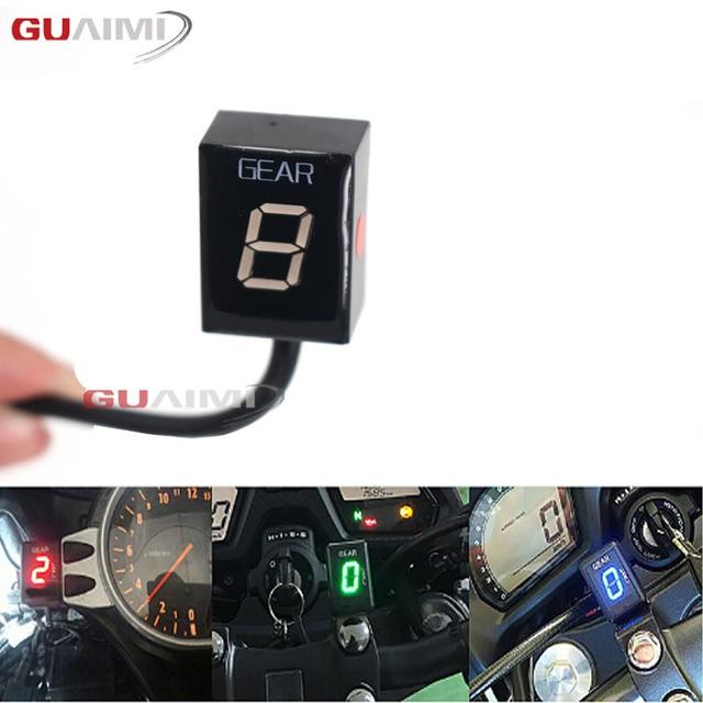 Motocykl LCD 1 6 poziom wyświetlacz biegów 6 prędkości sprzęt cyfrowy miernik dla Kawasaki wszystkie FI Model Z750 Z800 Z1000 ER6N Ninja 300 ZX6R