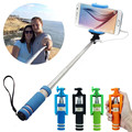 Portable Mini Folding Mobile Phone Wired Self Selfie Sticks For IOS&Android Built-in Shutter Selfie Monopod Tripod Gifts Suppion