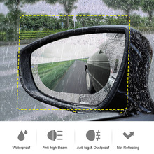 2pcs Car Rainproof Film For Rearview Mirrors Anti fog Waterproof Auto Mirror Protective Film Rain Proof Car Accessories