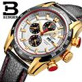 Switzerland watches men luxury brand Wristwatches BINGER Quartz watch Chronograph Diver glowwatch B1163-4