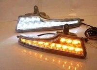 12V LED DRL Daytime Running Lights With Fog Lamp Hole For Nissan TEANA ALTIMA 2013