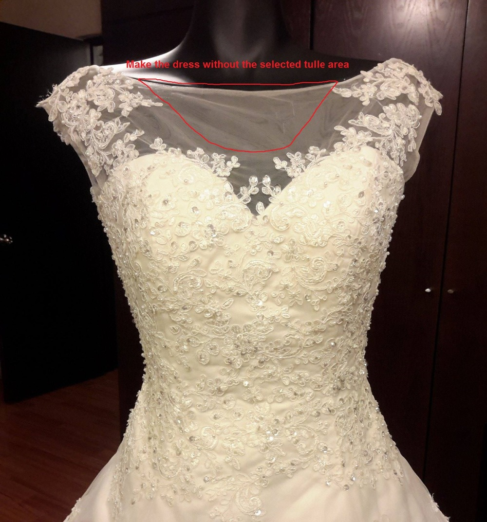 A Line Wedding Dresses Popular Bride Dress with Appliques and Beads custom size color