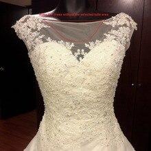 ТРАПЕЦИЕВИДНОЕ свадебное платье, популярное свадебное платье с аппликациями и бусинами, Индивидуальный размер и цвет