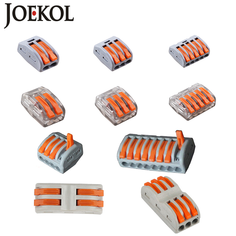 Free Shipping (30-50pcs/lot) 222 WAGO mini fast wire Connectors,Universal Compact Wiring Connector,push-in Terminal Block free shipping tny277pn dip in stock 50pcs lot