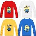 Camisetas Para Chicas Chicos de Manga Larga camiseta de Los Niños t camisetas Niños camiseta Ropa Del Bebé de Los Niños Minions Bebé, Niña, Niño ropa