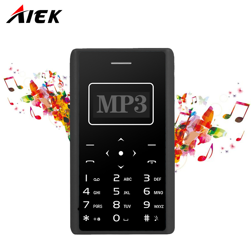 Original Ultra Thin Card Mobile Phone 4 8mm AIEK X7 AEKU SOYES X6 Low Radiation mini