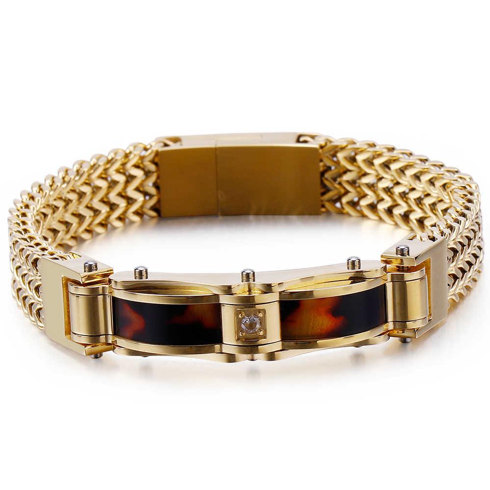 13MM Men's Bracelets Fashion Best Friends Bracelet Men With Magnet Clasp Male Jewelry Gold Stainless Steel Mens Bracelets 2019