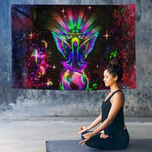 Hippie Chakra Tapestry Psychedelic Wall Hanging Indian Mandala Starry Night Galaxy Decor Boho Tapestries