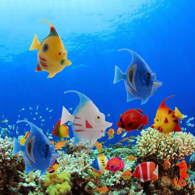 5Pcs Plastic Artificial Floating Swimming Vivi Fish Aquarium Fish Tank Ornament