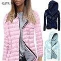 women slim winter hoodie zipper parkas femme outwear