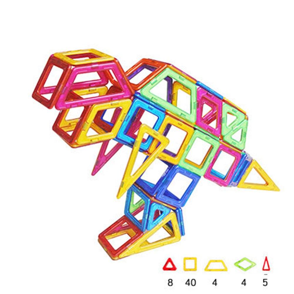 Tyrannosaurus Rex Shape Magnetic Designer Building Blocks Model Building Toys Brick Enlighten Bricks Magnetic Toys for Children exerpeutic 1000 magnetic hig capacity recumbent exercise bike for seniors