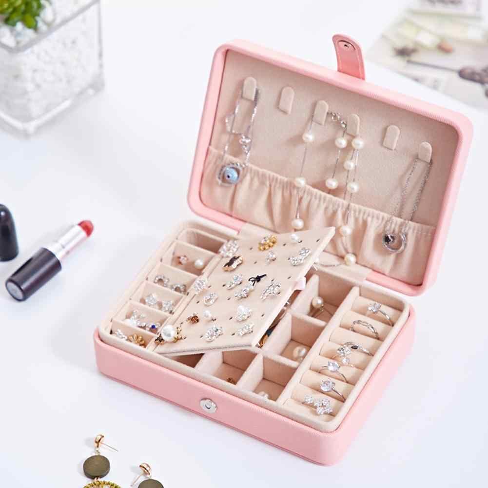 Makeup Organizer Portable Waterproof Jewelry Storage Box Ring Necklace Earrings Girl Gift Storage Box Make Up Organizer