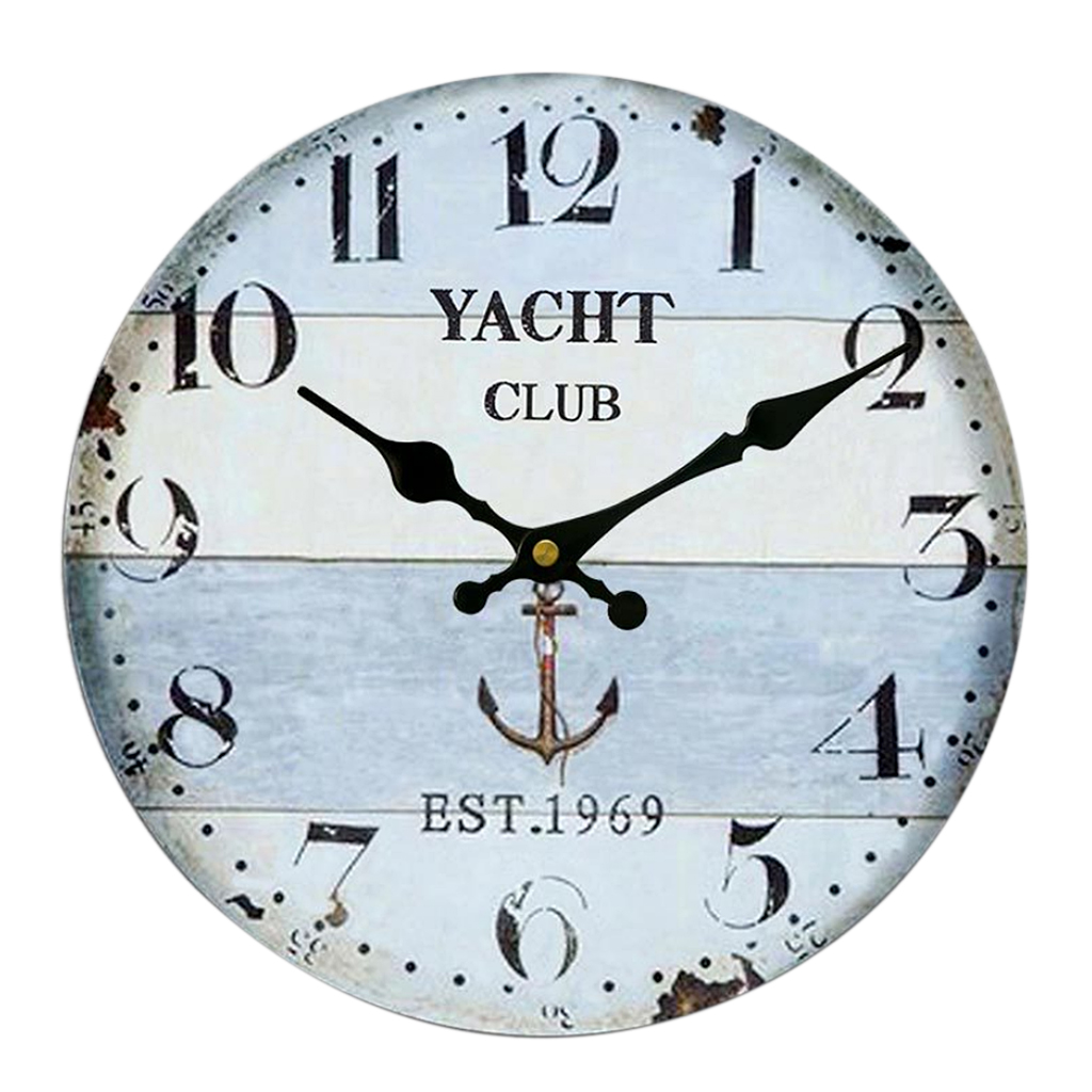 online get cheap kitchen wall clocks for sale aliexpresscom  - new hot sale vintage wall clock rustic shabby chic home kitchen wooden cmhome wall decoration