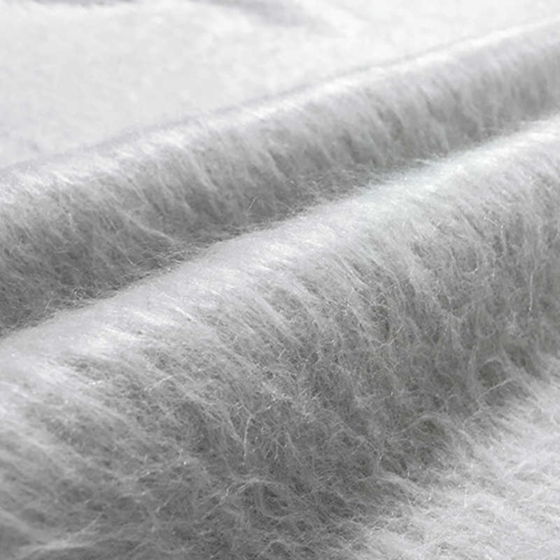 Silver world fashion limited 2017 winter Angora cashmere wool fabric for coat A long albaca fabrics tissu patchwork tela tissus