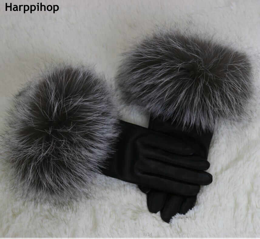2018 new arrival hot sell high quality women real fox fur Gloves lovely ladies genuine fox