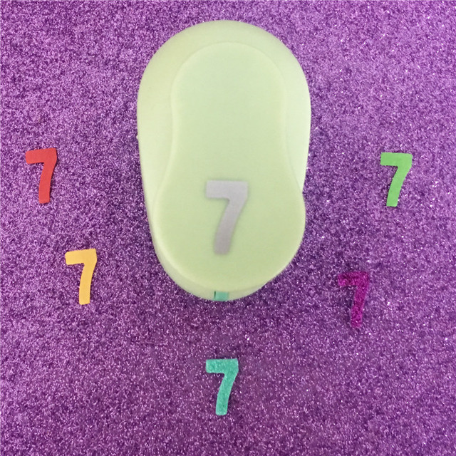 Free Ship Arabic Numbers 7 Shaped Furador Paper Hole Punch Eva Scrapbooking Punches Craft Perfurador Number