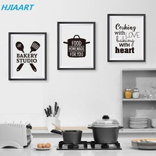 Cooking With Love Kitchen Wall Art Prints And Poster Baking Heart Canvas Painting Pictures Home Decor