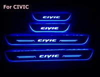 for Honda CIVIC LED Door Sill Scuff Plate Welcome Pedal threshold shining brilliant pedal for 2006 2017 HONDA CIVIC