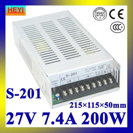 LED power supply 27V 7.4A 100~120V/200~240V AC input single output switching power supply 200W 27V transformer led power supply 24v 25a 100 120v 200 240v ac input single output switching power supply 600w 24v transformer