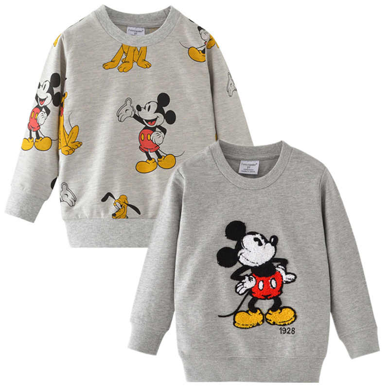 Baby Girl T-shirt  Boy T-shirt Children's Mickey Minnie long-sleeved T-shirt Tops Spring And Autumn Cotton Shirt Kids Clothes