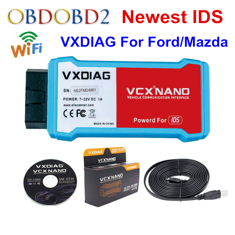 WIFI Version VXDIAG VCX NANO for Ford For Mazda V101 2 IN 1 Support Multi-language Better Than For Ford for VCM 2 Free Shipping